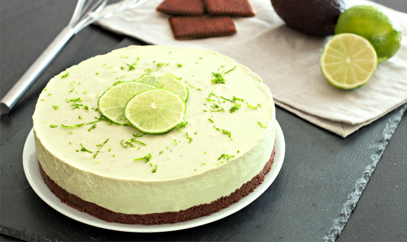 No Bake: Avocado-Limetten-Torte