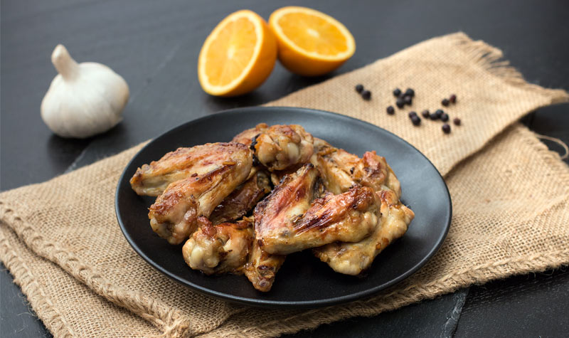 Chicken Wings mit Orange und Sojasauce
